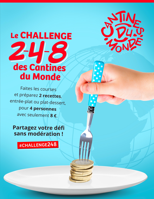 Affiche Cantines du Monde 2021 : le challenge 2-4-8